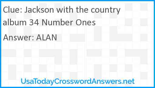 Jackson with the country album 34 Number Ones Answer