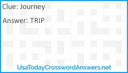 Journey Answer
