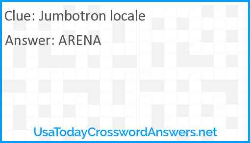 Jumbotron locale Answer
