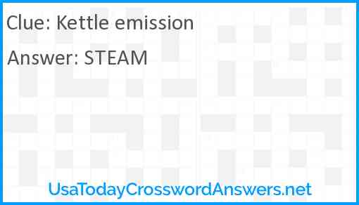 Kettle emission Answer