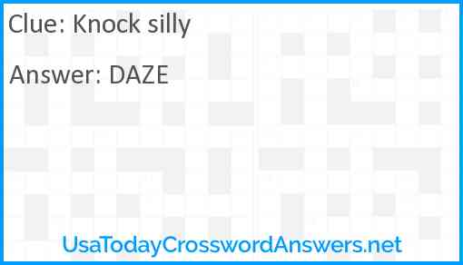 Knock silly Answer