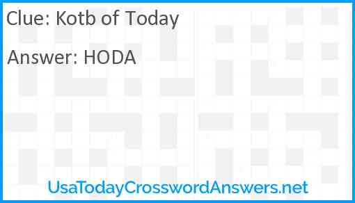 Kotb of Today Answer