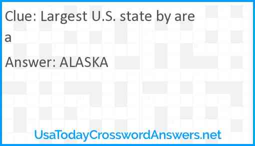 Largest U.S. state by area Answer