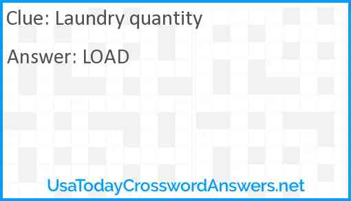 Laundry quantity Answer