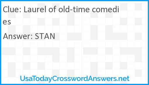 Laurel of old-time comedies Answer