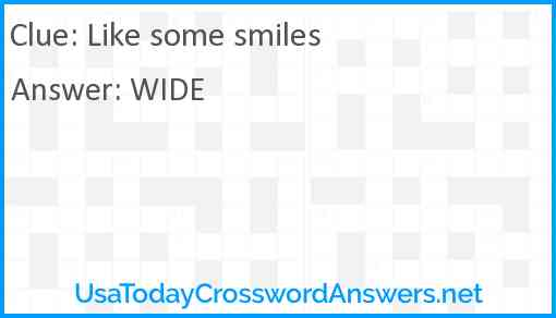 Like some smiles Answer