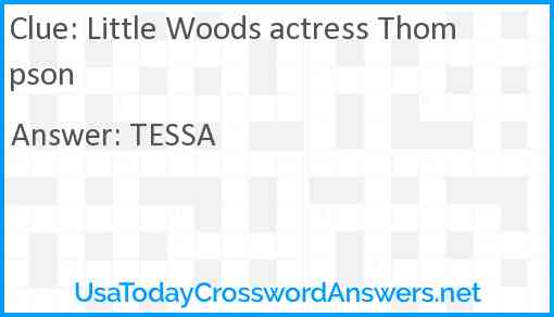 Little Woods actress Thompson Answer