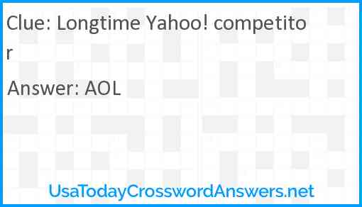 Longtime Yahoo! competitor Answer