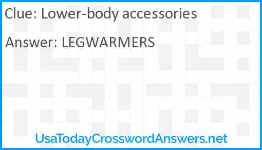 Lower-body accessories Answer
