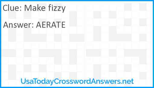 Make fizzy Answer