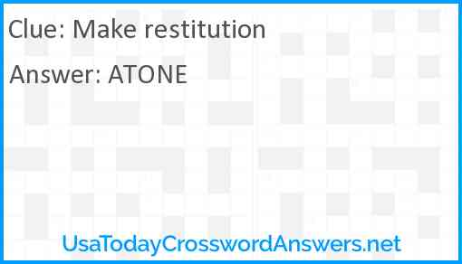 Make restitution Answer