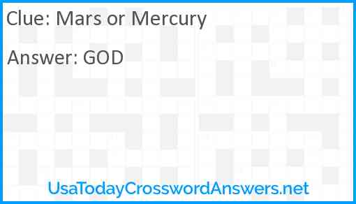 Mars or Mercury Answer