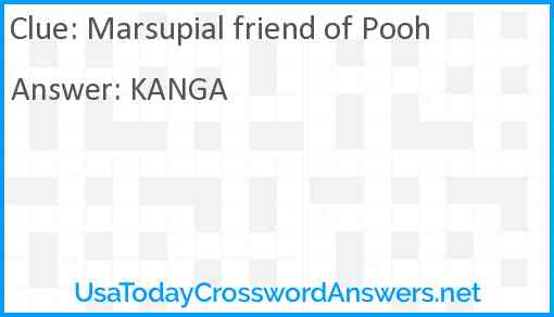 Marsupial friend of Pooh Answer