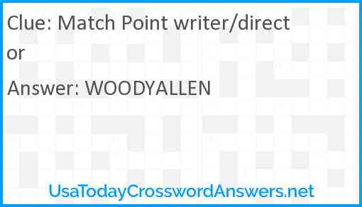 Match Point writer/director Answer