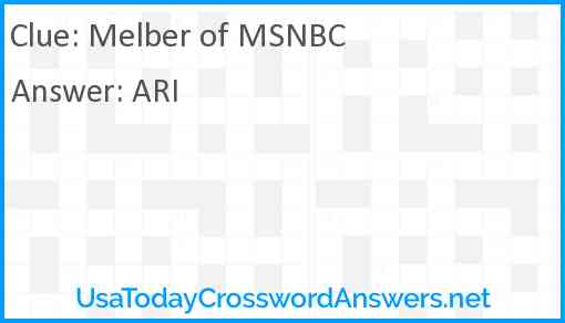 Melber of MSNBC Answer