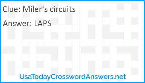 Miler's circuits Answer