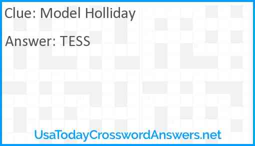 Model Holliday Answer