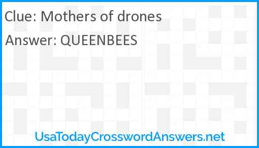 Mothers of drones Answer