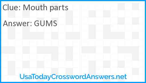 Mouth parts Answer