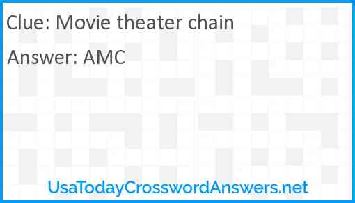 Movie theater chain Answer