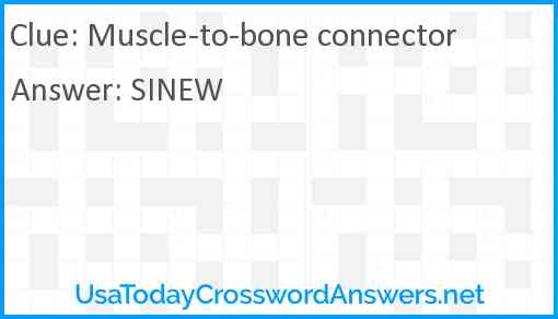 Muscle-to-bone connector Answer