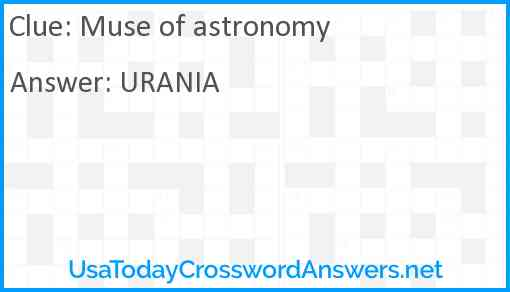 Muse of astronomy Answer