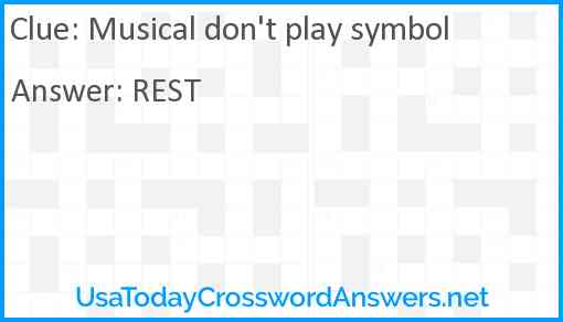 Musical don't play symbol Answer