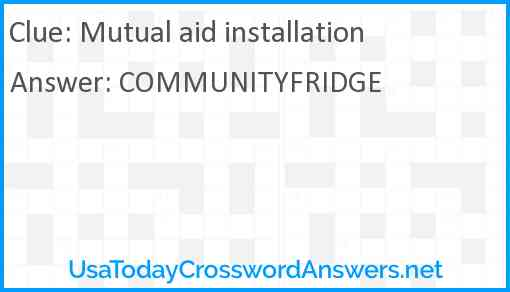Mutual aid installation Answer