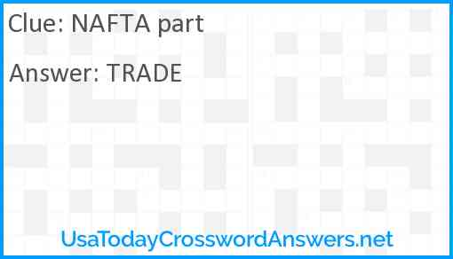 NAFTA part Answer