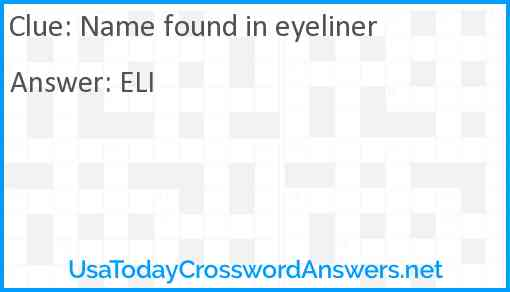 Name found in eyeliner Answer