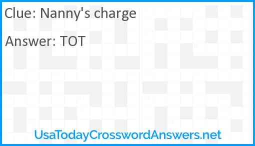 Nanny's charge Answer