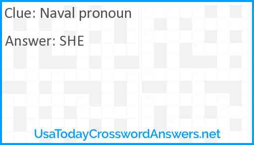 Naval pronoun Answer
