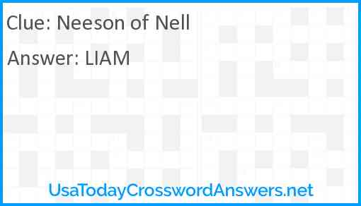 Neeson of Nell Answer