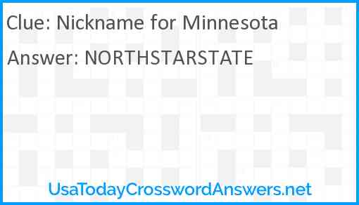Nickname for Minnesota Answer