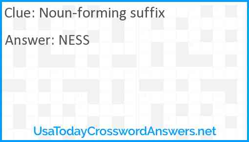 Noun-forming suffix Answer