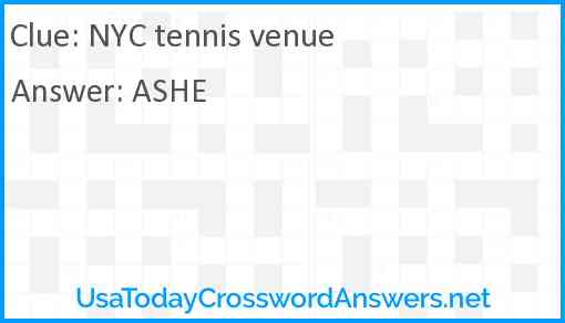 NYC tennis venue Answer
