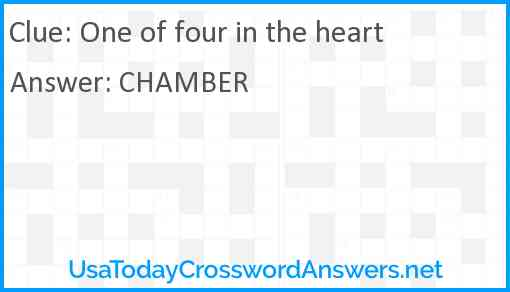 One of four in the heart Answer