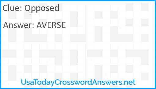 Opposed Answer