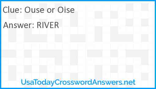 Ouse or Oise Answer