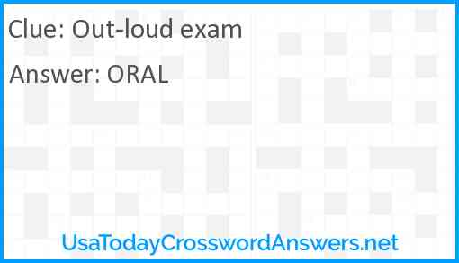 Out-loud exam Answer