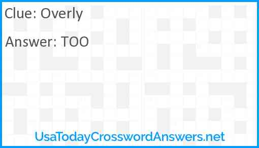 Overly Answer
