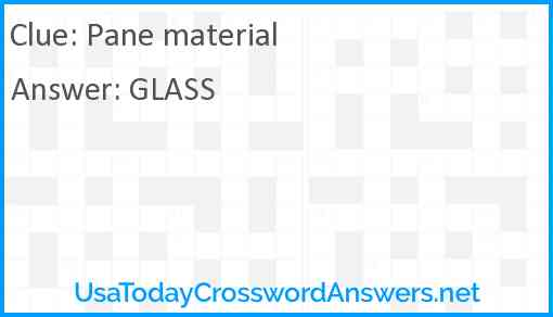 Pane material Answer