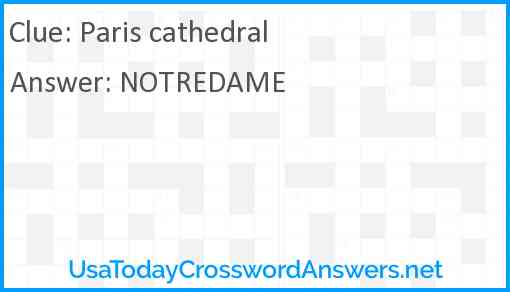 Paris cathedral Answer