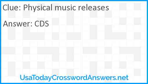 Physical music releases Answer