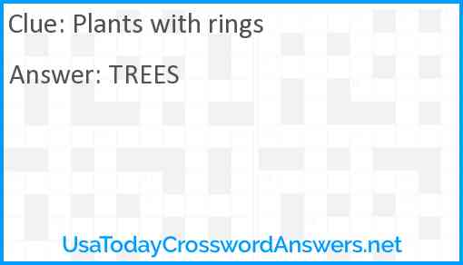 Plants with rings Answer