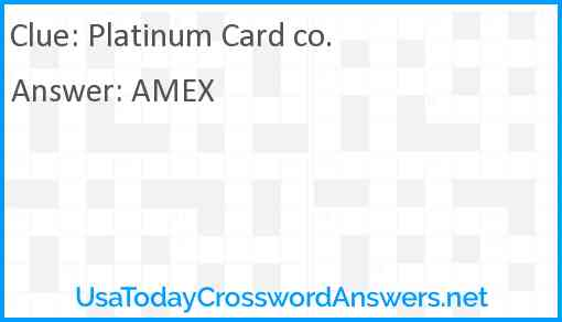Platinum Card co. Answer