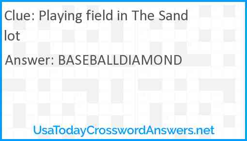 Playing field in The Sandlot Answer