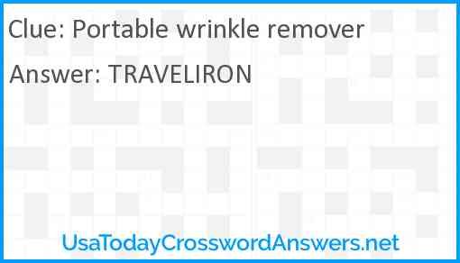 Portable wrinkle remover Answer