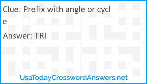 Prefix with angle or cycle Answer