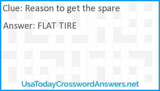 Reason to get the spare Answer